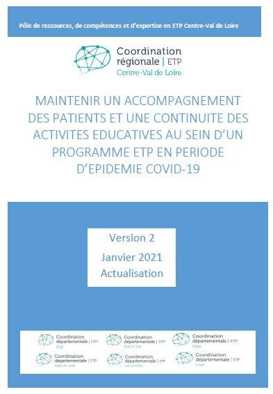 Sortie de la nouvelle édition du guide Maintenir l'ETP pendant la crise sanitaire